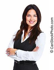 Beautiful young business woman.
