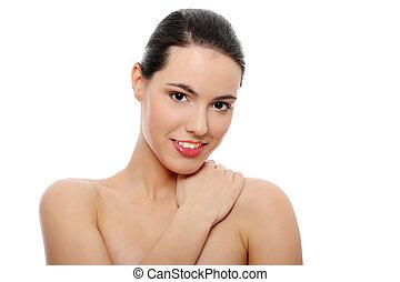 Beautiful young caucasian woman portrait