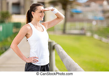 young exercise woman outdoors