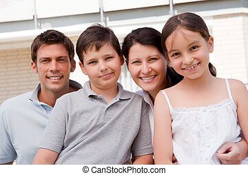 Beautiful young family together - Outdoor