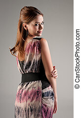 young fashion model woman