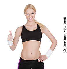 Beautiful young fitness woman