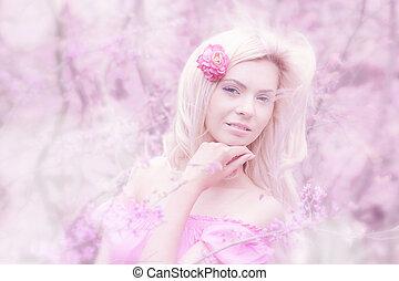 Beautiful young girl outdoors