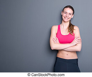 Beautiful young gym woman