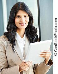 beautiful young indian businesswoman