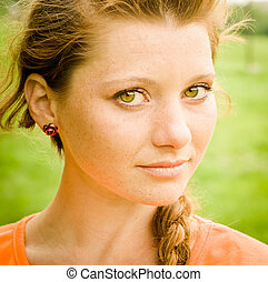 Beautiful young lady portrait