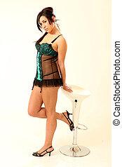 Beautiful Young Mixed Race Lingerie Model