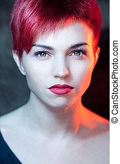 Beautiful young redhead woman