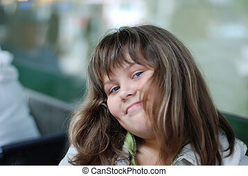 beautiful young smiling girl portrait