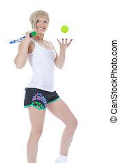 Beautiful young tennis player