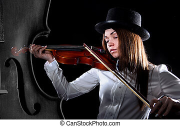 Beautiful young violinist
