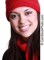 beautiful young woman