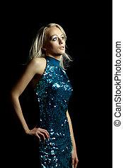 Beautiful young woman dancing