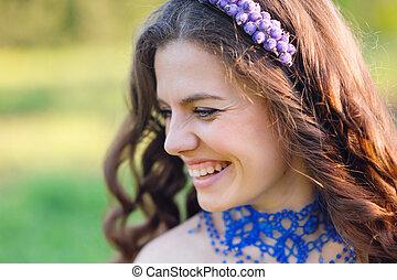 Beautiful Young Woman Enjoy Nature