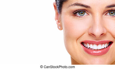 Beautiful young woman face.