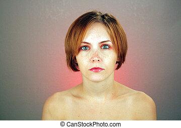 Beautiful Young Woman, Headshot (1)