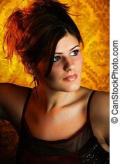 Beautiful Young Woman Headshot