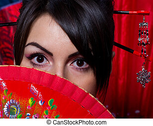 woman in Asian costume