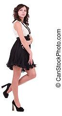 Beautiful young woman in dress