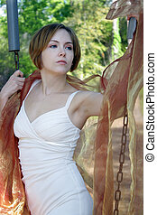 Beautiful Young Woman Outdoors (10)