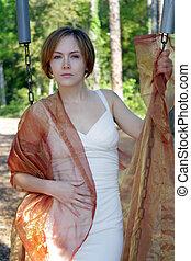 Beautiful Young Woman Outdoors (11)