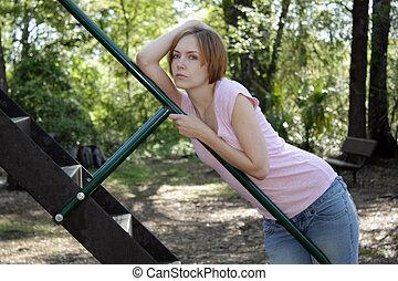 Beautiful Young Woman Outdoors (13)