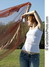 Beautiful Young Woman Outdoors (3)