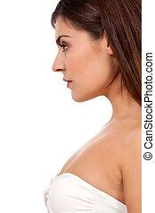 beautiful young woman portrait profile