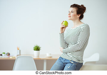 Beautiful young woman prefers healthy lifestyle