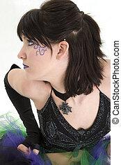 Beautiful Young Woman Profile