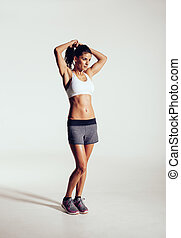Beautiful young woman ready for exercising