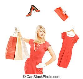 Beautiful young woman ready for shopping