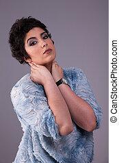 beautiful young woman, studio shot