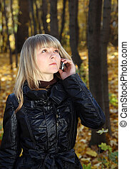young woman talking by phone