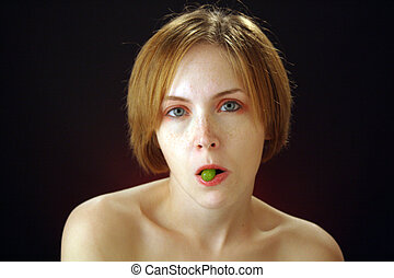 Beautiful Young Woman with Candy (3