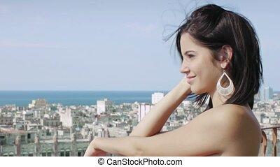 beautiful young women smiling