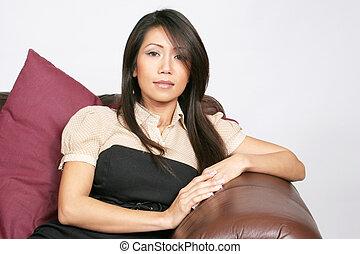 Beautifull asian american woman