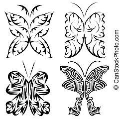 beautifull butterfly tattoo set