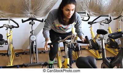 Beautifull female during cycling tr - Rostov on Don %u2013...