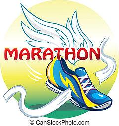 Vector illustartion of the emblem of the marathon