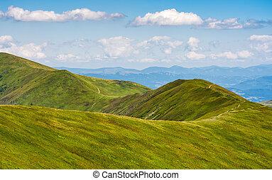 beautifull minimalistic summer mountain landscape in good...