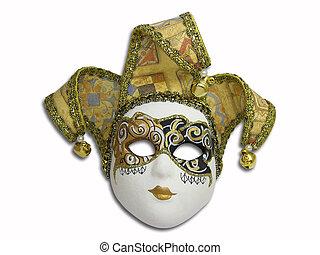 Beautifull venetian mask isolated on white