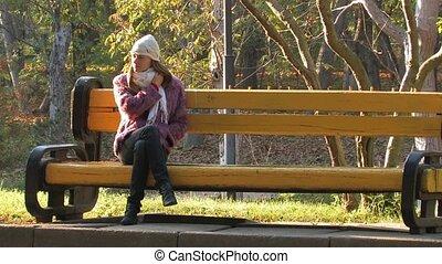 Beautifull Woman in park