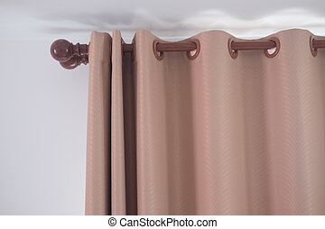 Beautifully brown curtain