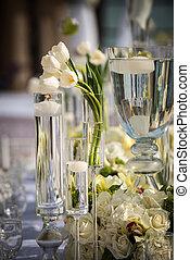 beautifully, décoré, lieu, mariage