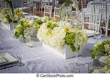 beautifully, décoré, mariage, lieu