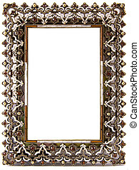 A beautifully decorates blank frame encrusted with semi-precious stones and gold inlay