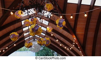 Beautifully decorated Colorful flowers specified hall for...