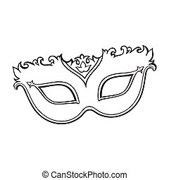 Beautifully decorated Venetian carnival mask with glitter and ornaments