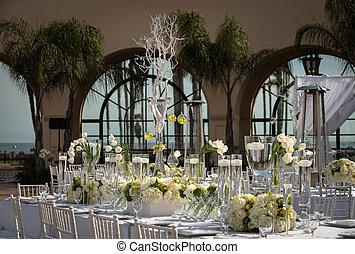 Beautifully Decorated Wedding Venue - Image of a beautifully...